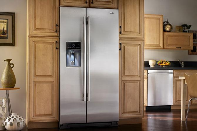 サイドバイサイド 冷凍冷蔵庫 722L ステンレス