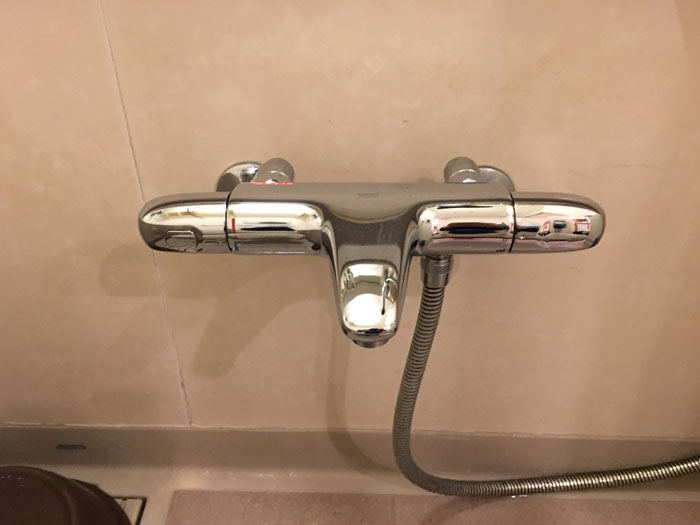 2018/01/18 東京都江東区 バス・シャワー混合栓交換工事(グローエ:34163003)