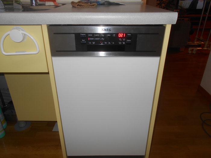 2016/12/22 東京都足立区 食器洗い機45cm交換工事 (AEG:F78450IM0P)