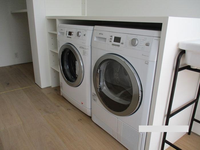 2018/07/12 東京都杉並区 洗濯機・乾燥機新規設置工事(smeg)