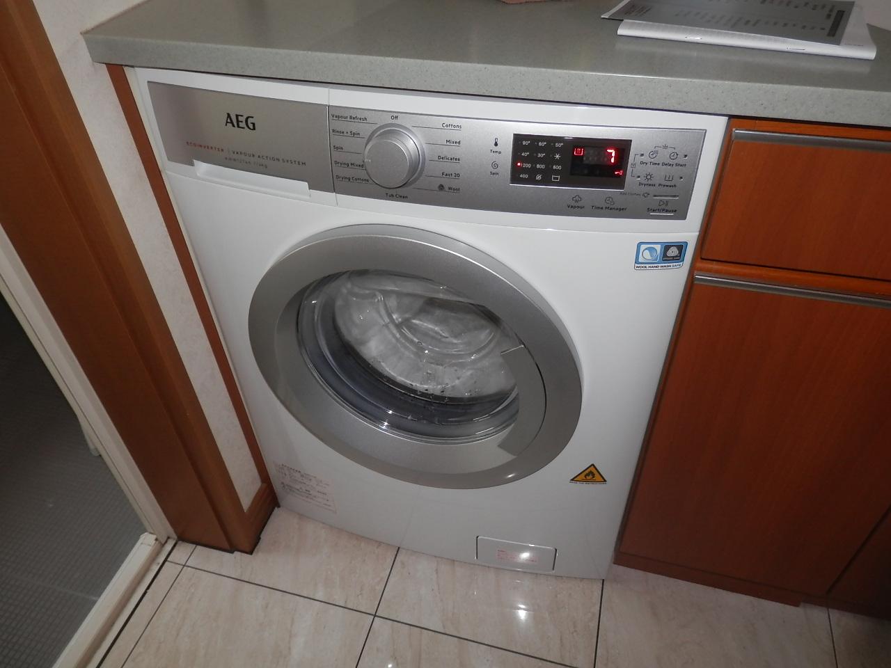 2019/06/02 神奈川県川崎市  洗濯乾燥機交換工事(AEG:AWW12746)