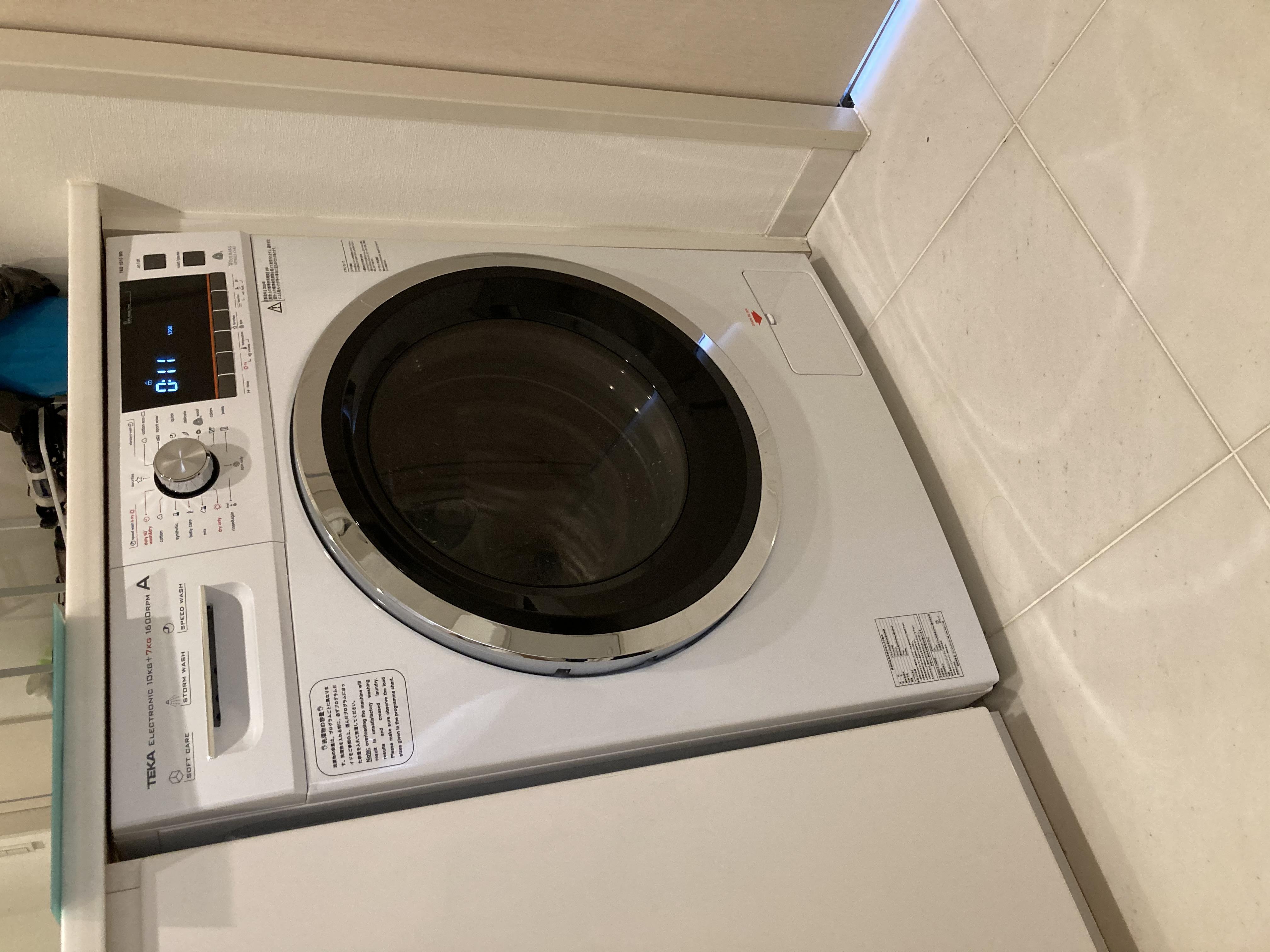 2020/08/27 東京都新宿区 LGの洗濯乾燥機からTEKAの洗濯乾燥機(TKD1610WD)への交換工事